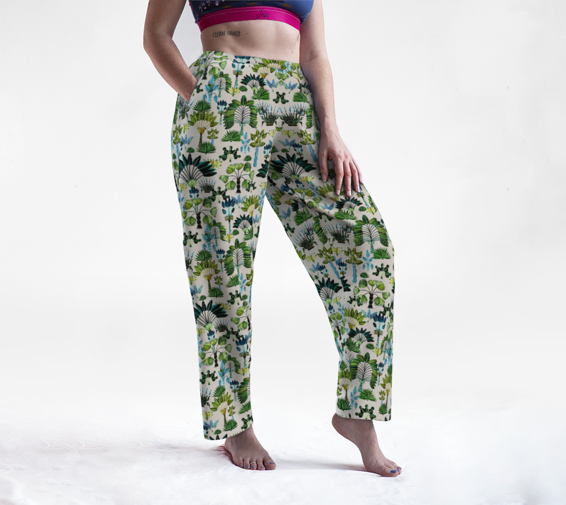Exotic Garden - Green Lounge Pants preview