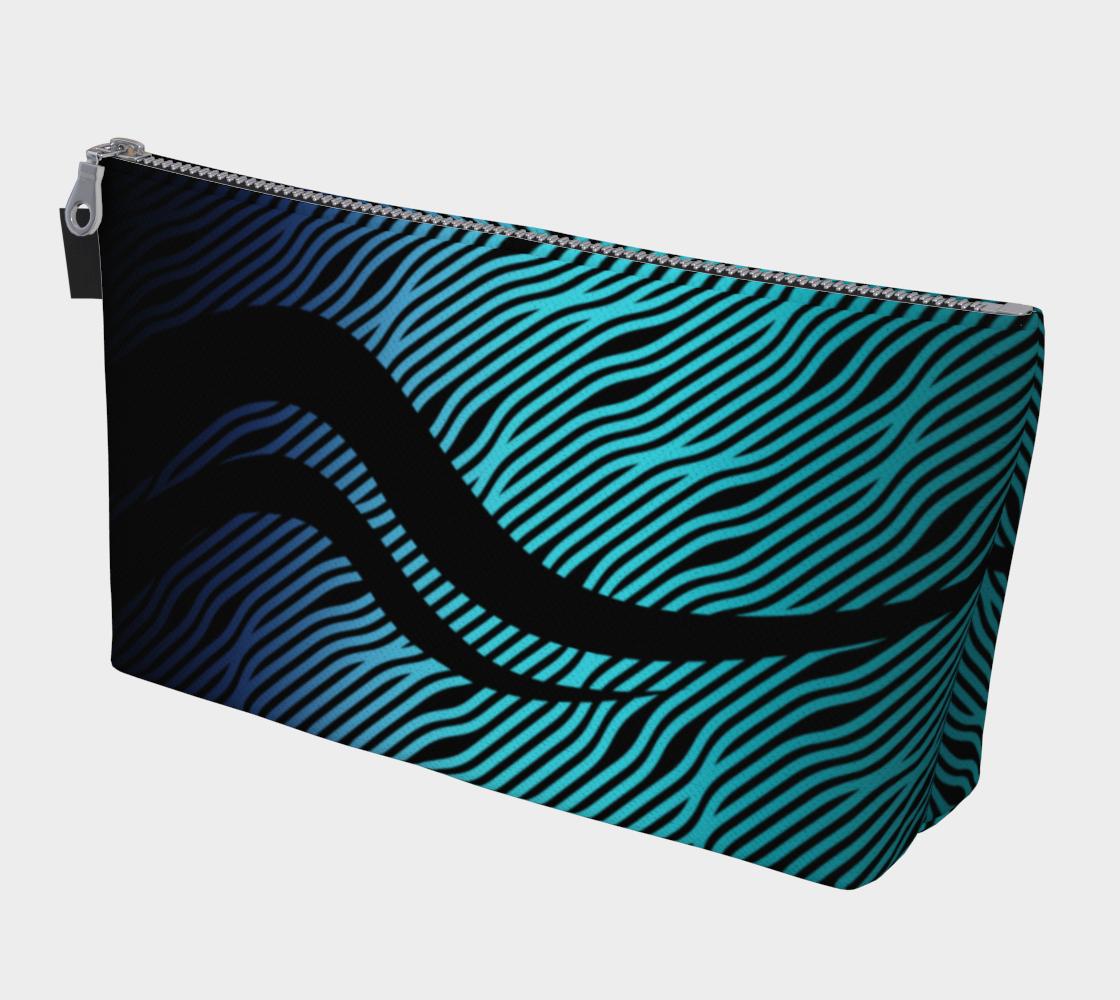 Geometrix - Waves Blue Ombre Makeup Gear Bag preview