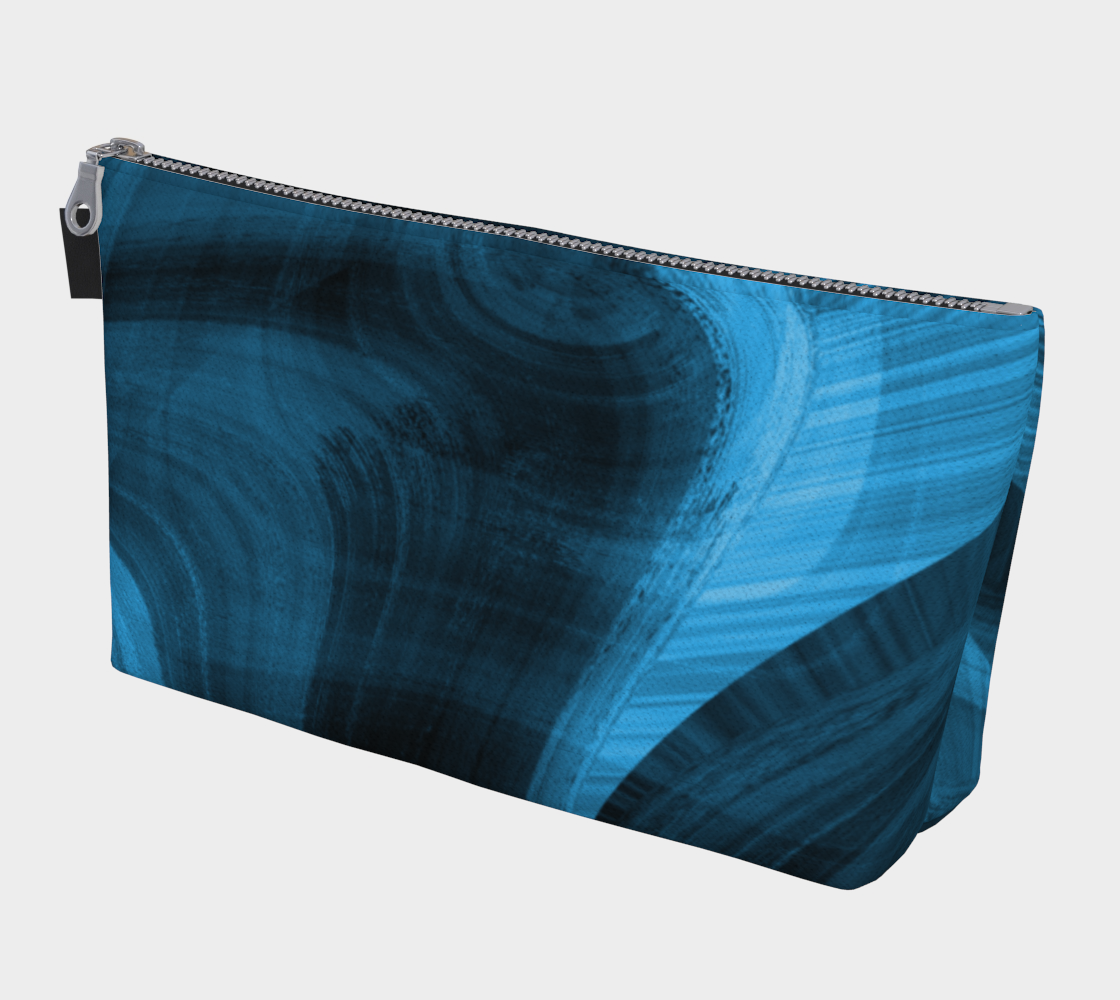 Bluish Black Hole Makeup Bag 3D preview