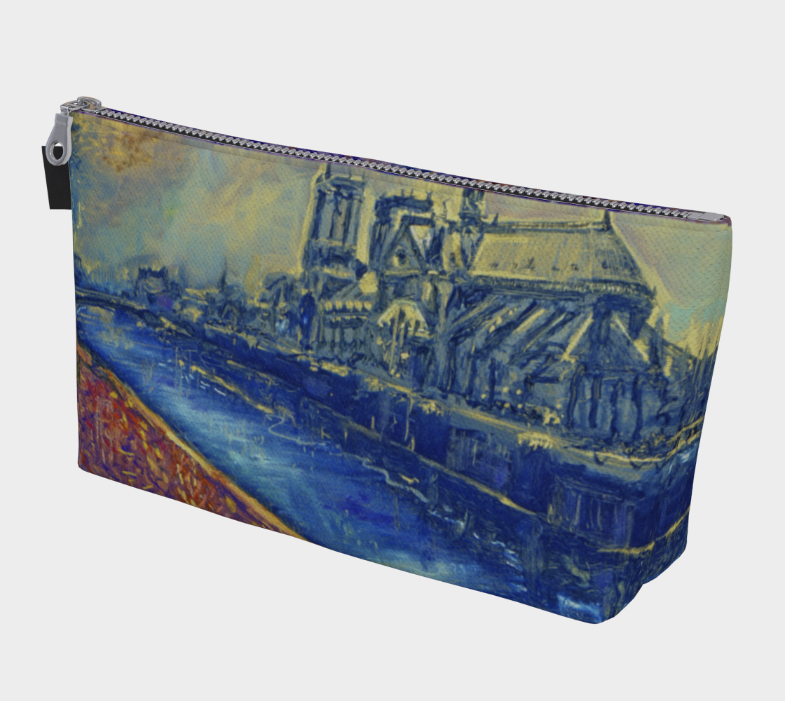 """""""Notre Dame Tribute: 4-15-19 by Lowell S.V. Devin"""" / Commemorative Make-Up Bag preview"""