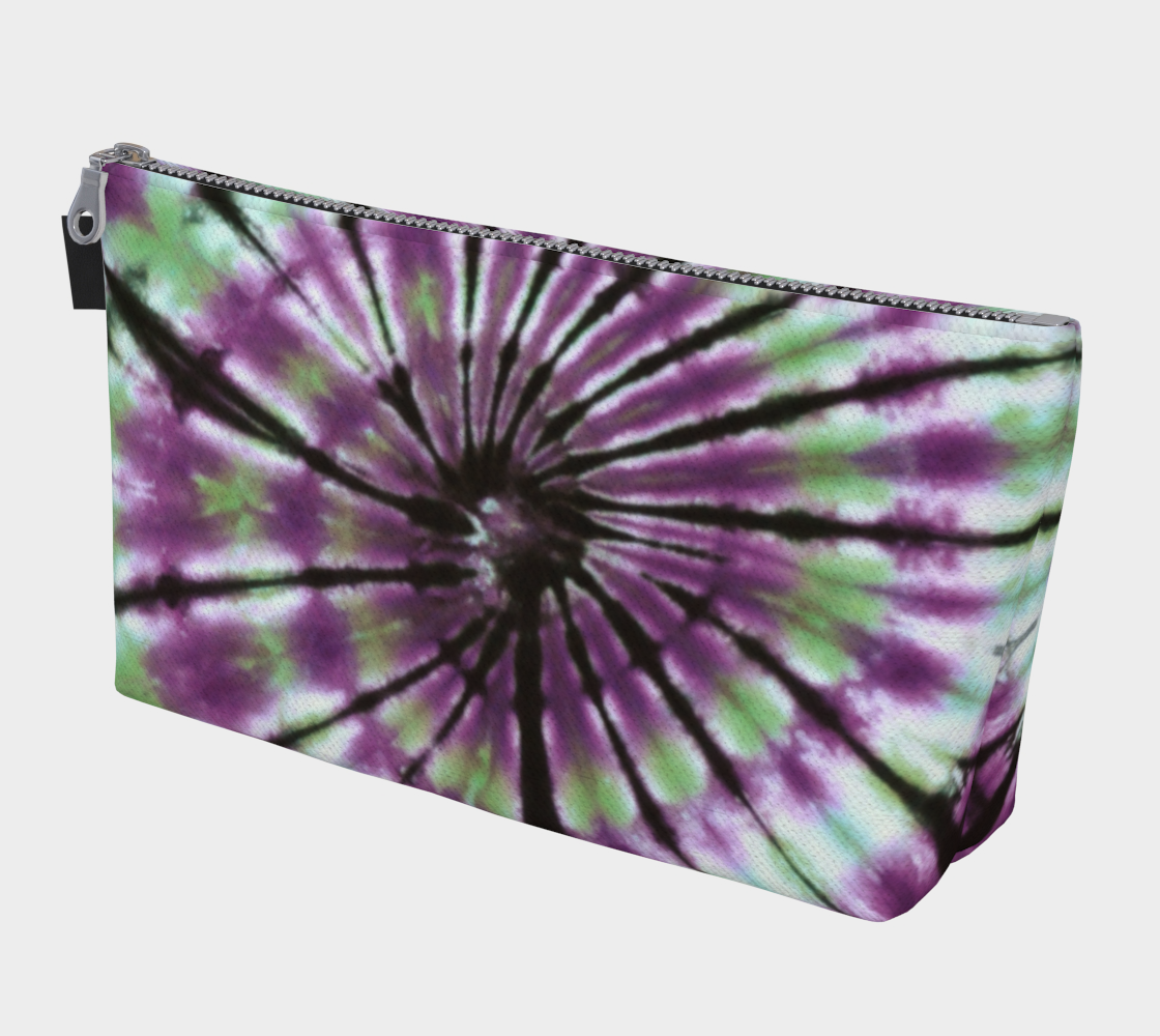 Green Purple Spiral Make Up Bag preview