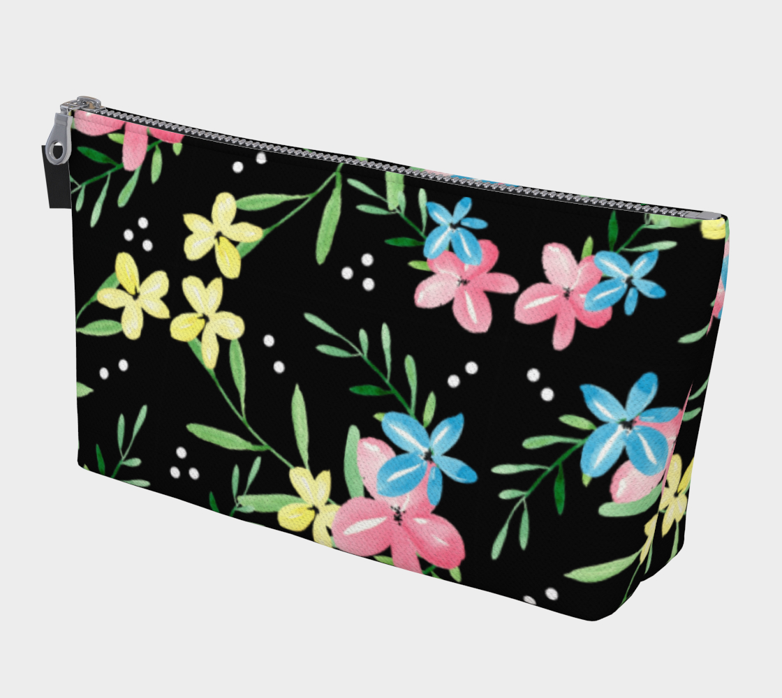 Floral Watercolor Makeup Bag preview