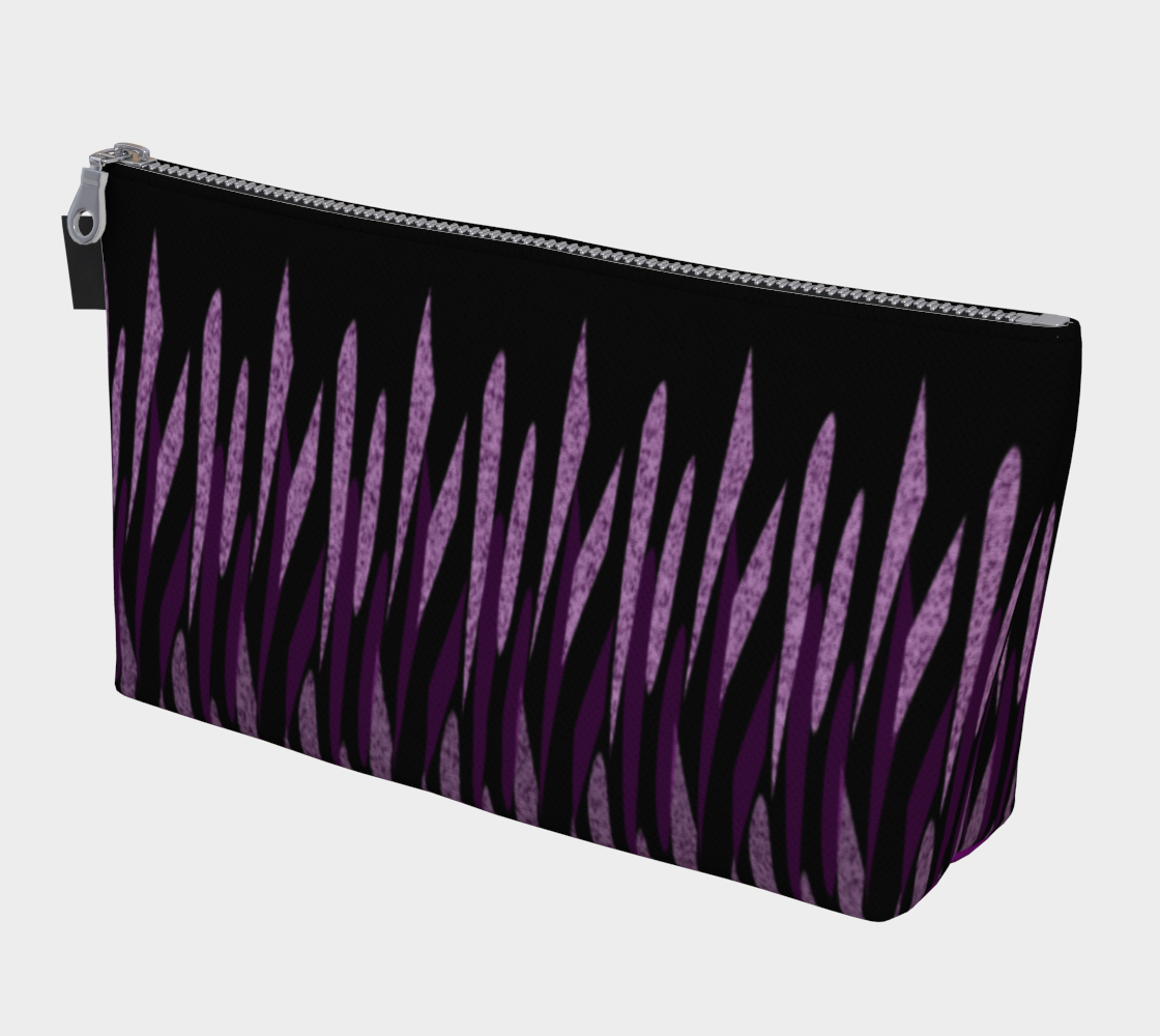 Purple Ice Abstract Makeup Bag preview