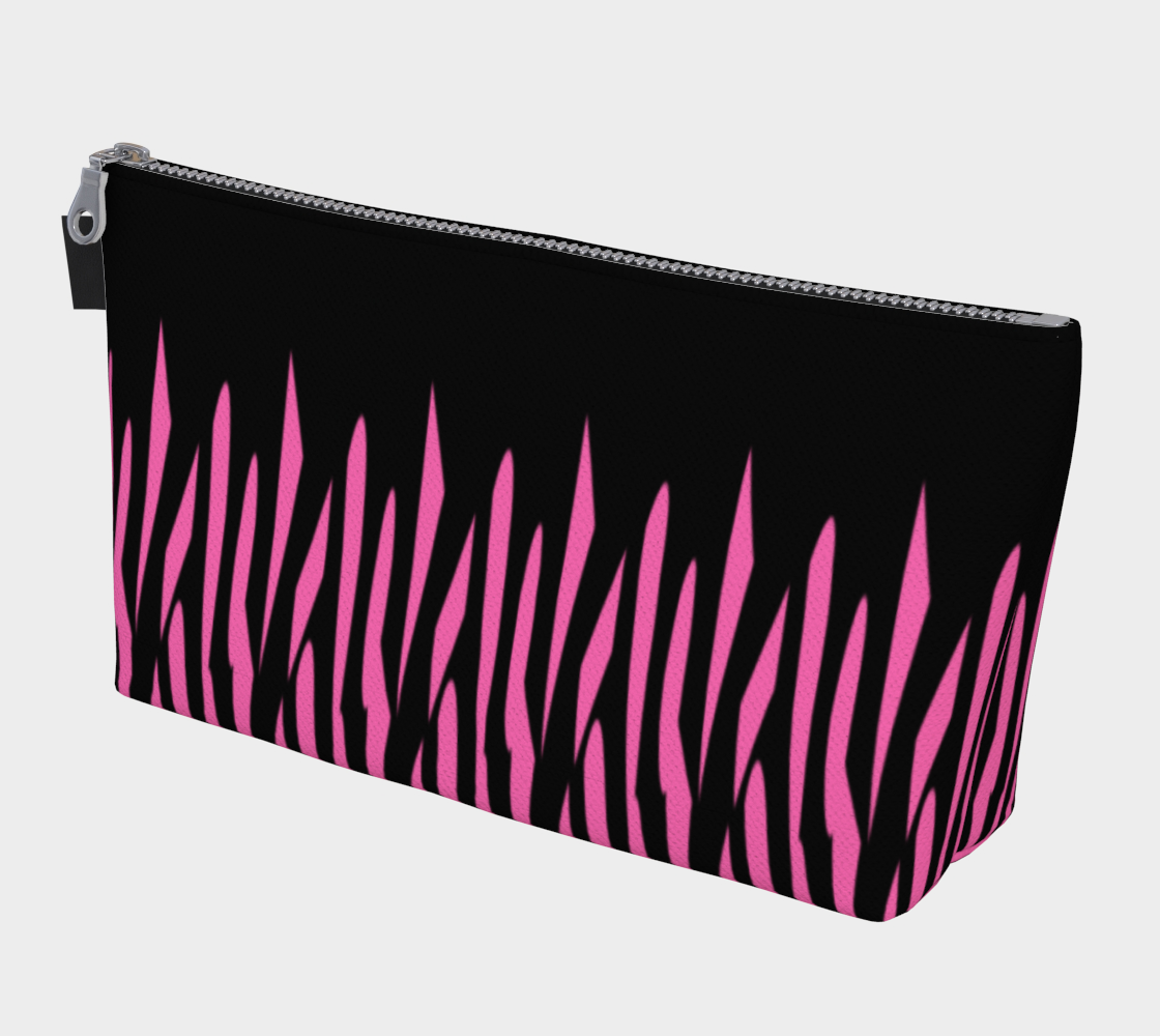 Pink and Black Ice Abstract Makeup Bag preview