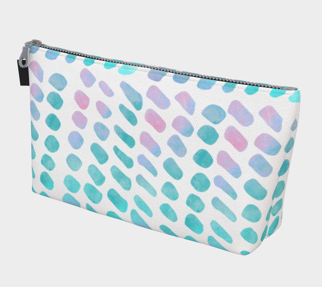 Pink and Blue Cotton Candy Makeup Bag preview