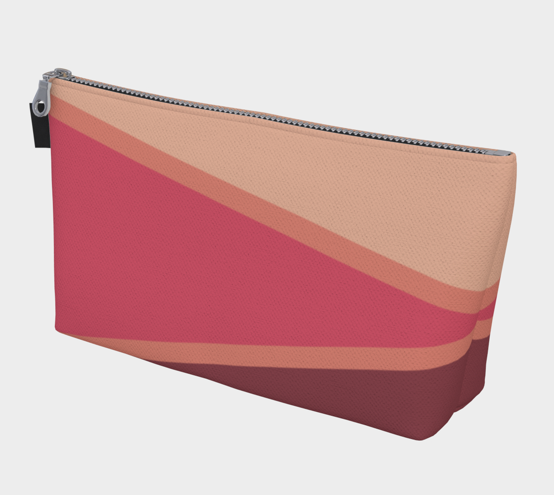 Romantic Blush Triangle Pattern Makeup Bag preview