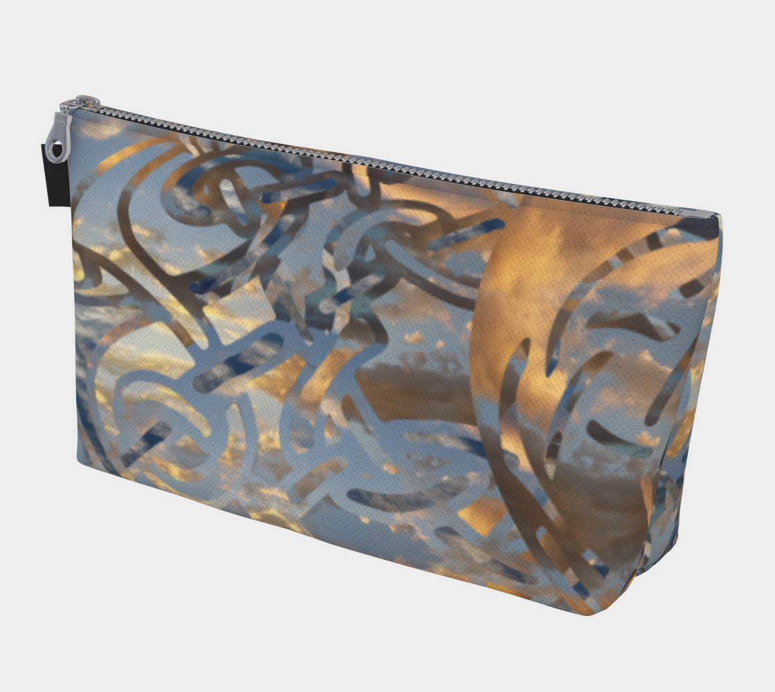 Swirling Celtic Sunset Makeup Bag preview