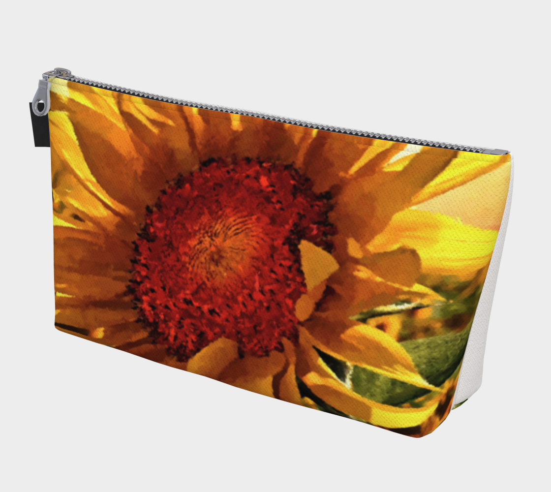 Sunflower Sunrise Travel Pouch By Dave Lee preview