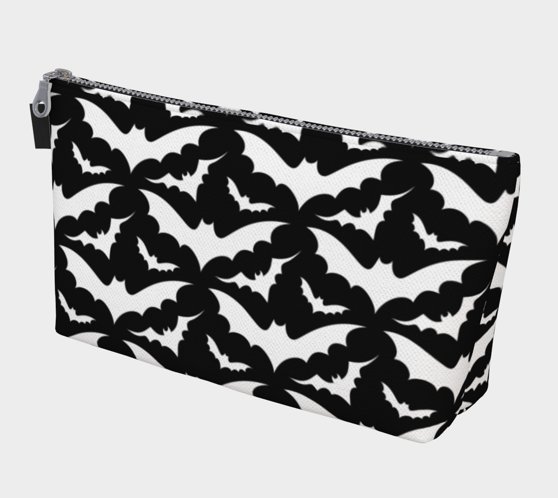 Black and White Bats Makeup Bag preview