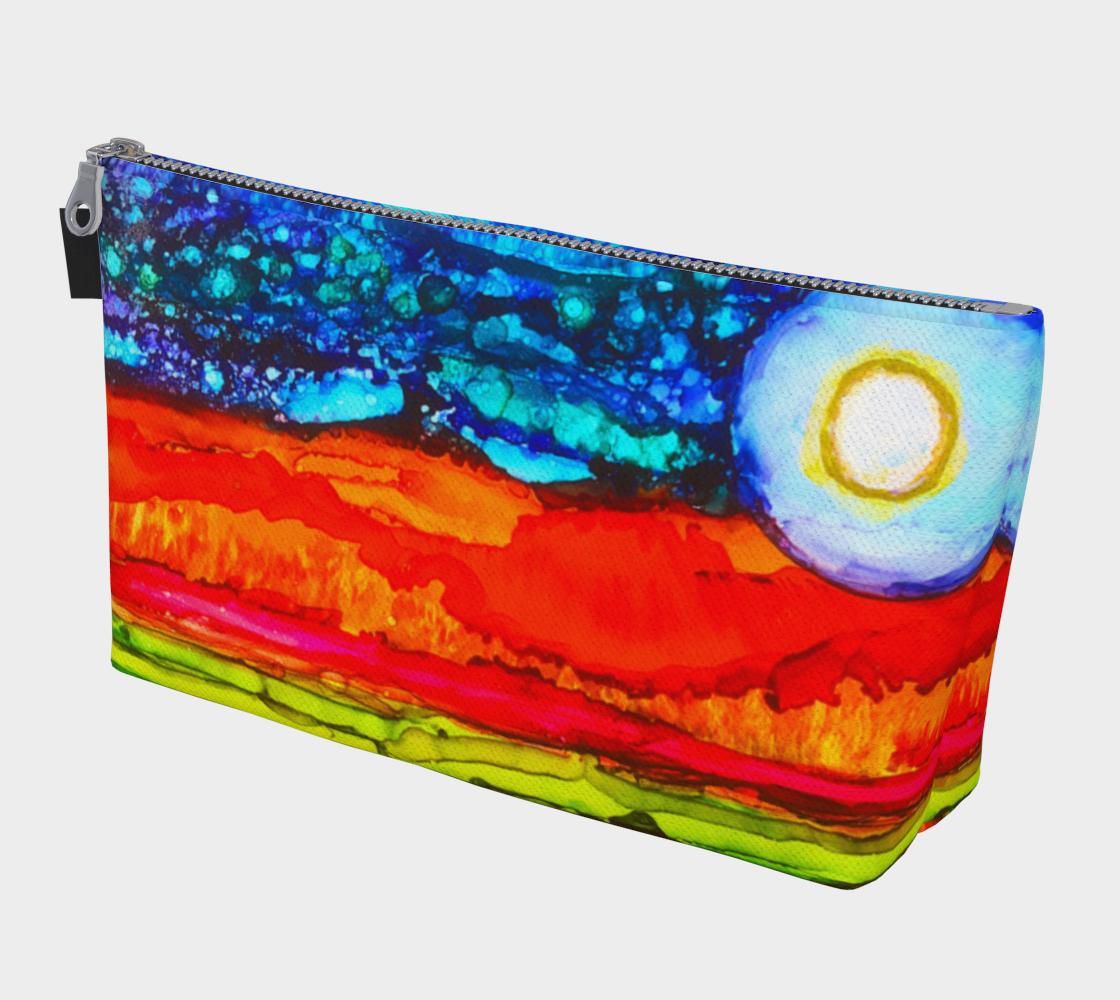 Twilight Landscape Zipper MakeUp Pencil Bag preview