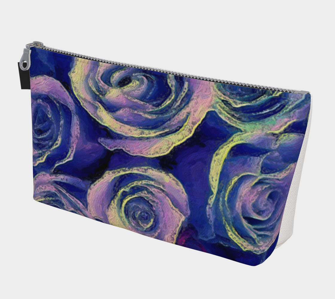 Purple Roses Travel Pouch by Bryan Bromstrup preview