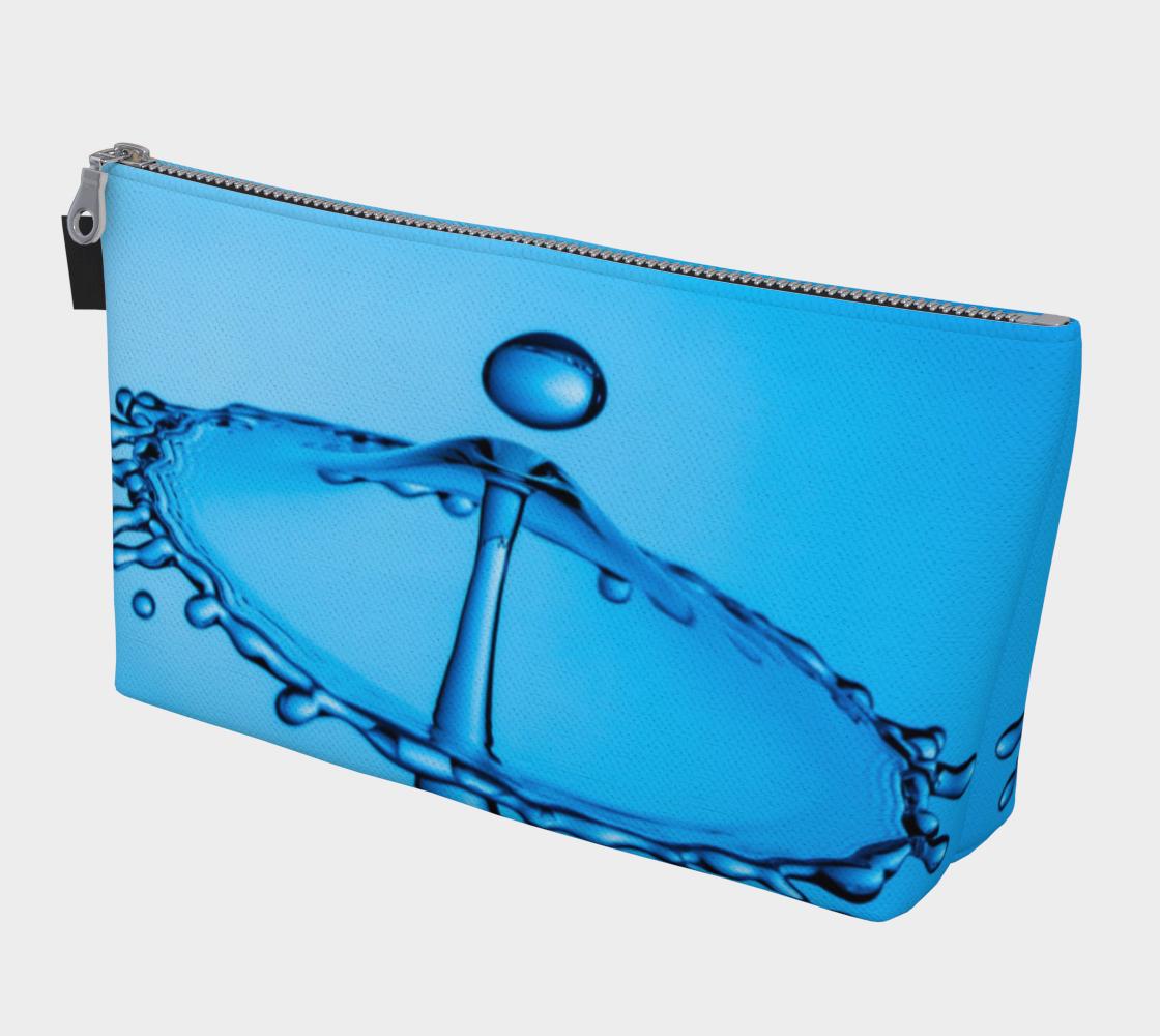 Aperçu de Blue Water Drop Makeup Bag