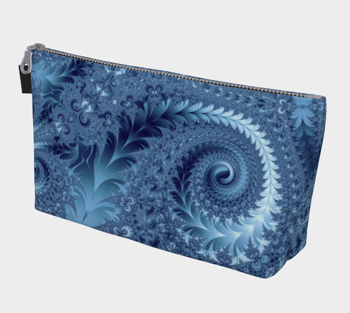Decorative Light Blue Fern Spirals Pattern preview