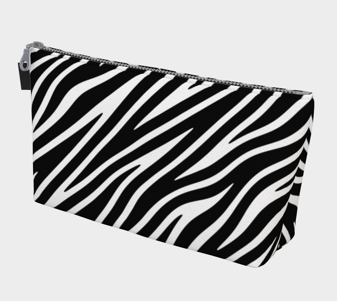 Zebra Stripe Pattern Black and White preview