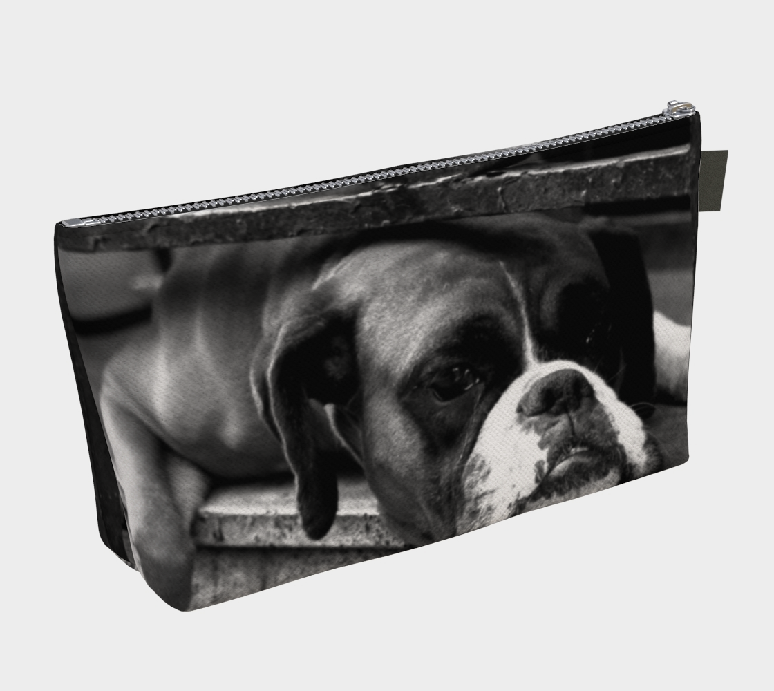 Boxer Dog On Windowsill Makeup Bag preview #2