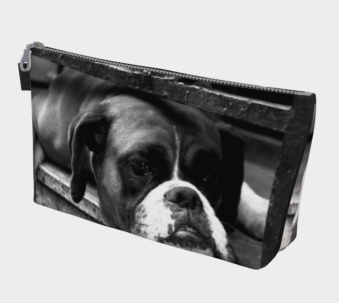 Boxer Dog On Windowsill Makeup Bag preview