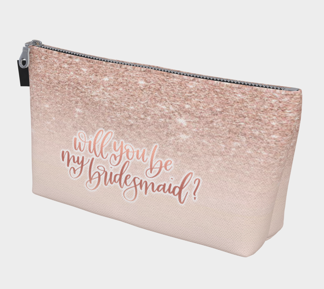 Will you be my bridesmaid makeup bag preview
