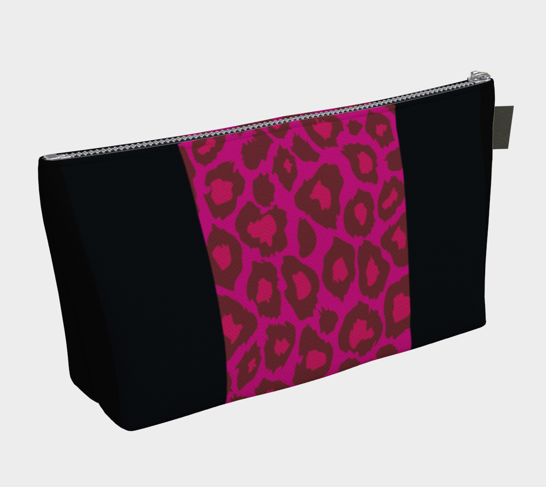 Leopard Makeup Bag Pink + Black preview #2