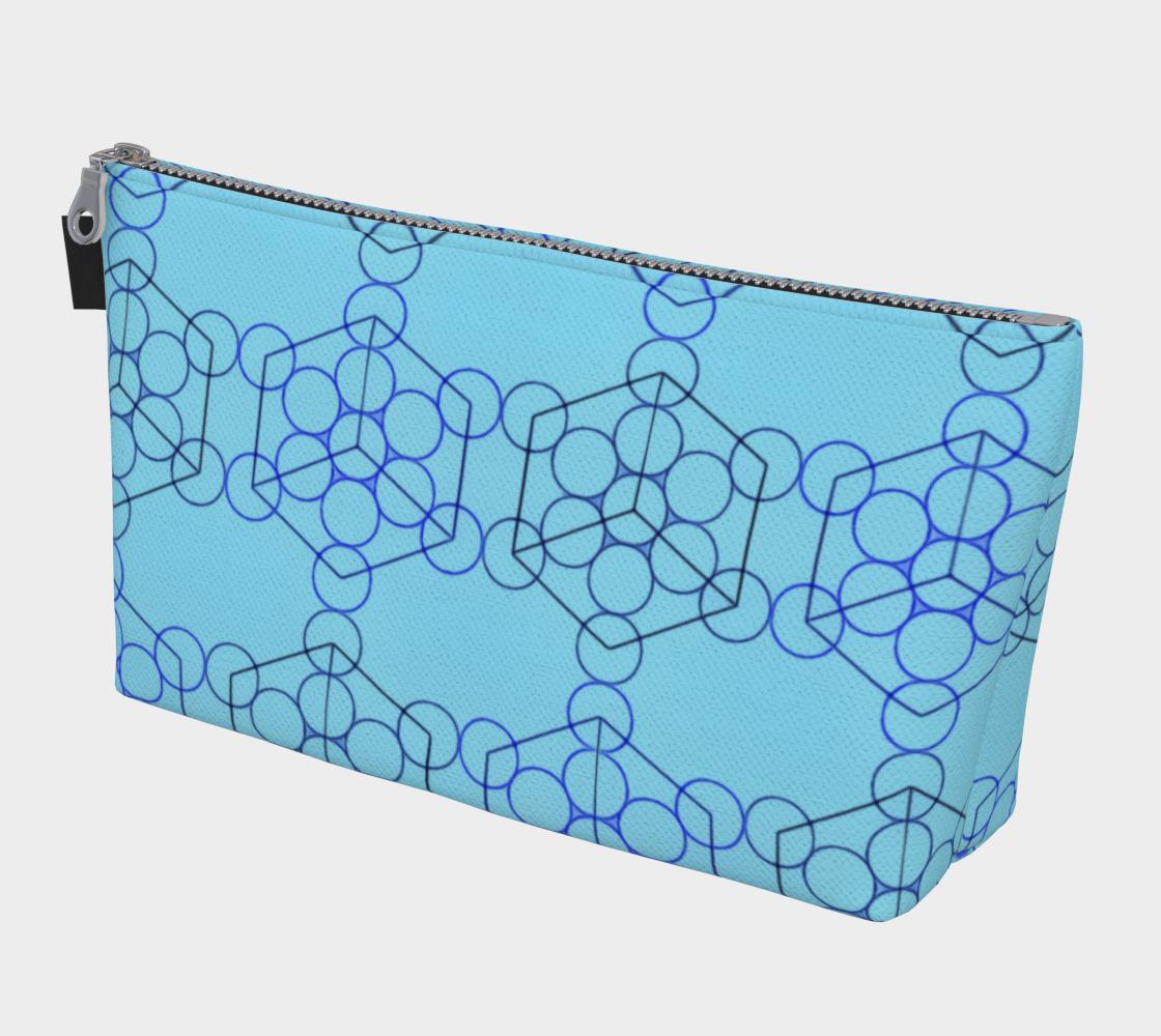 Geometric Tiling Blue MakeUp Bag preview