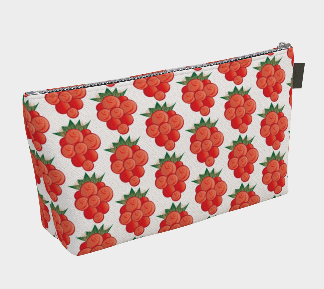 Salmonberry Makeup Bag White preview #2