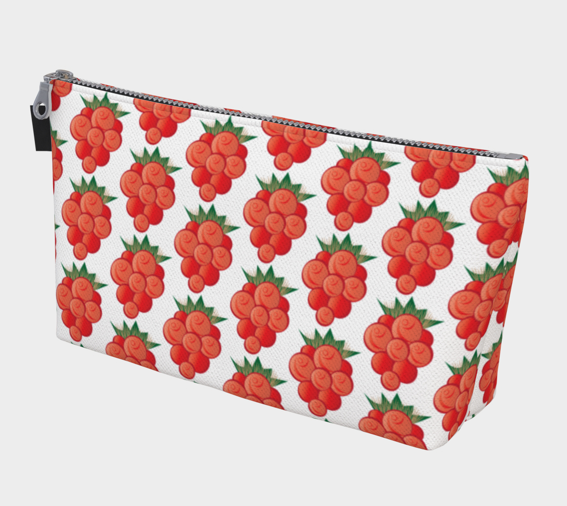 Salmonberry Makeup Bag White preview