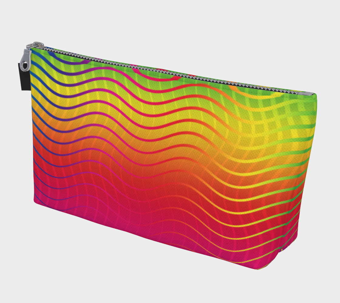 Rippled Rainbow Waves Makeup Bag preview