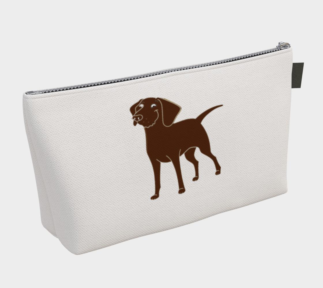 Labrador Retriever chocolate cartoon makeup bag preview #2