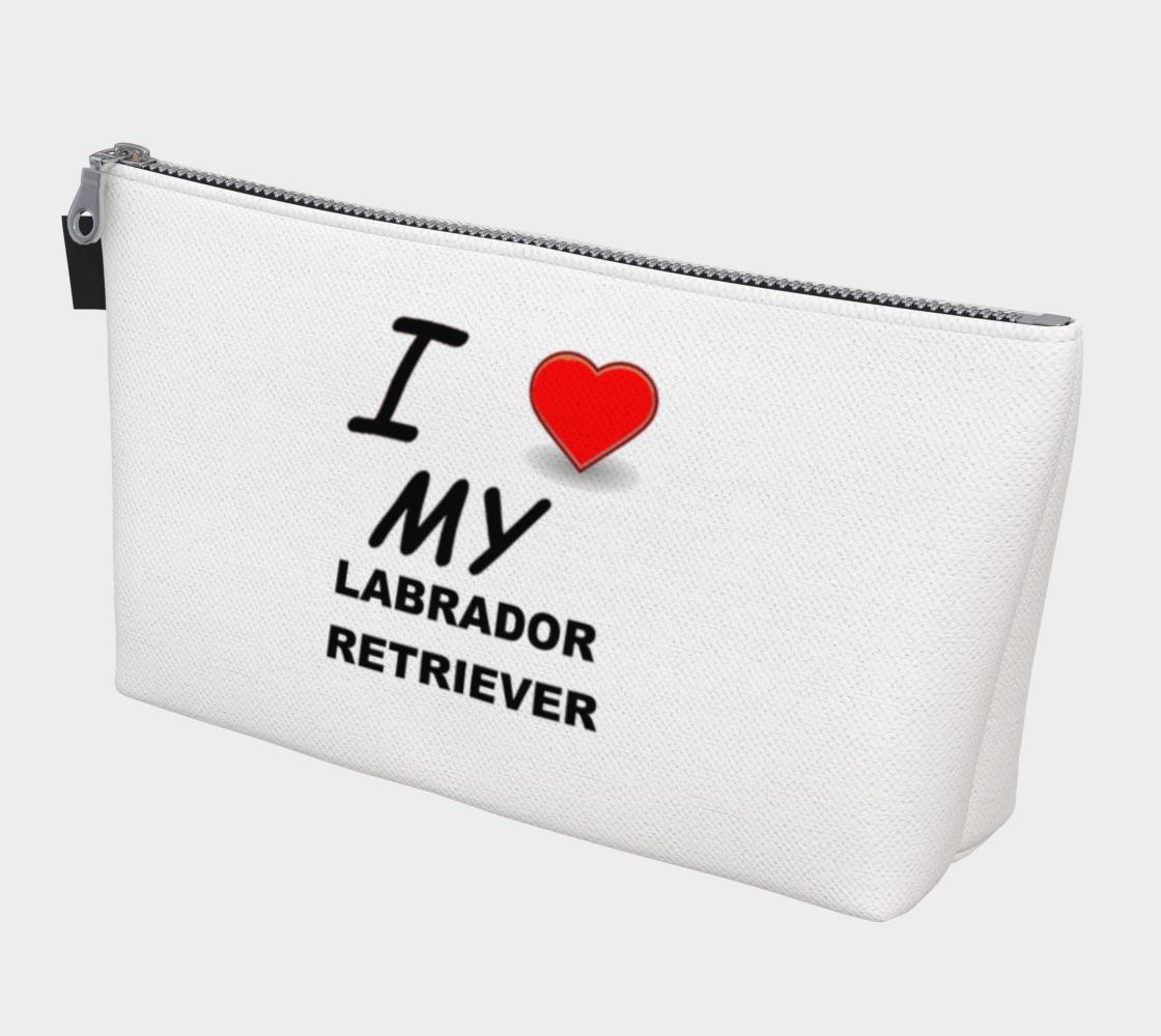 Labrador Retriever love makeup bag preview