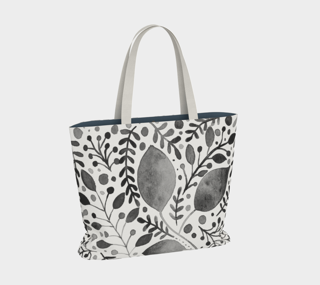Branches and leaves - black and white preview #2