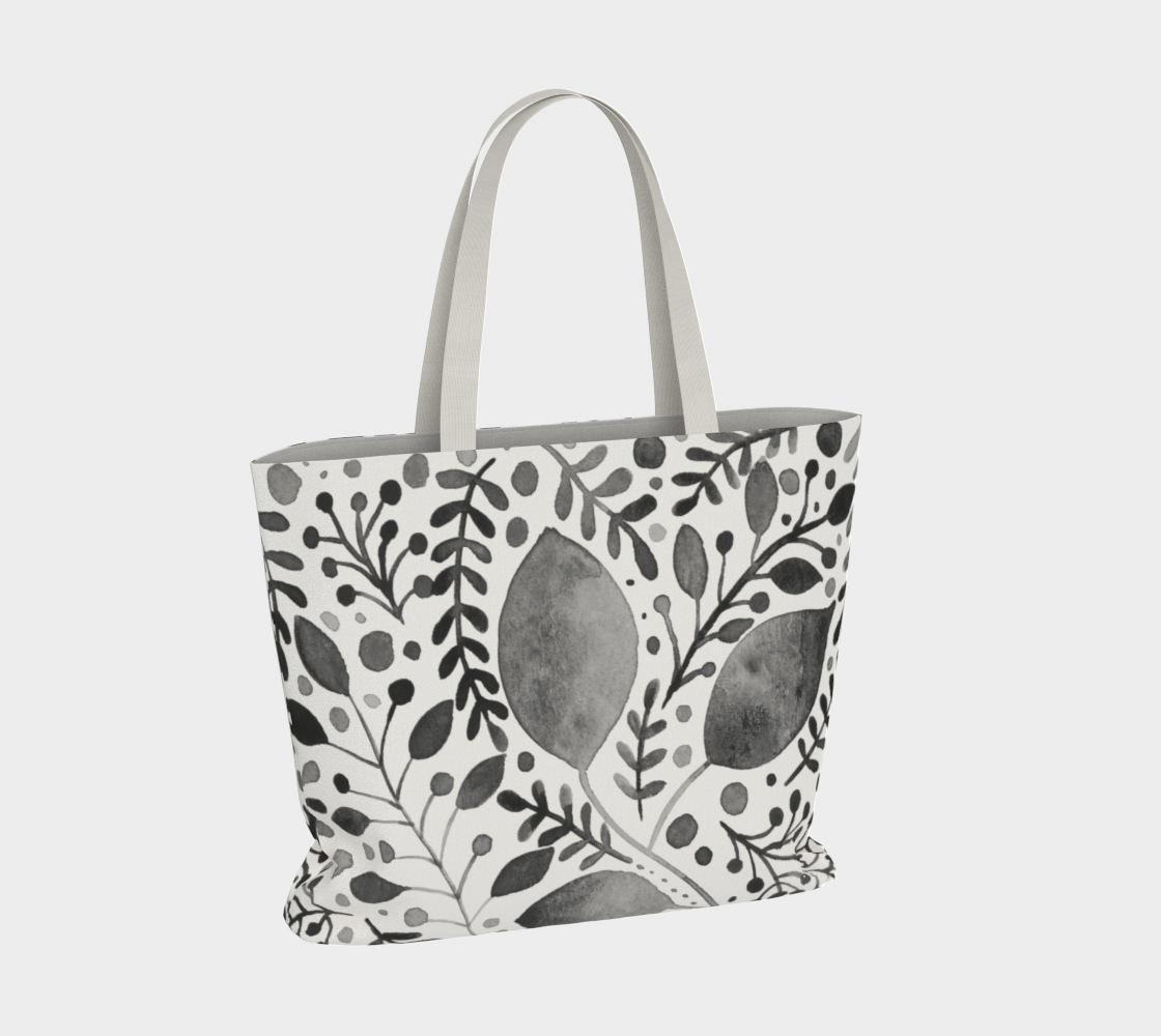 Branches and leaves - black and white preview #4