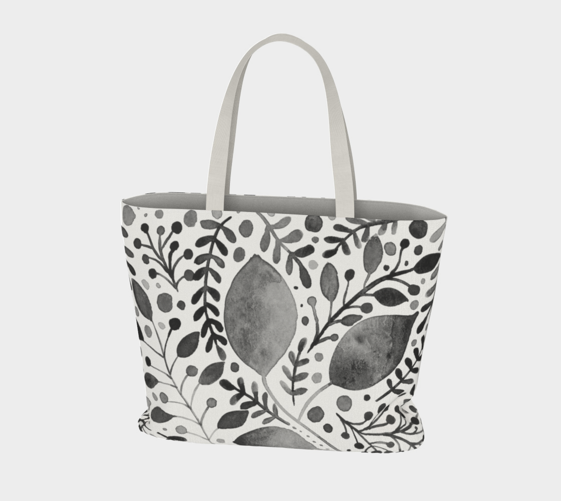 Branches and leaves - black and white preview #3