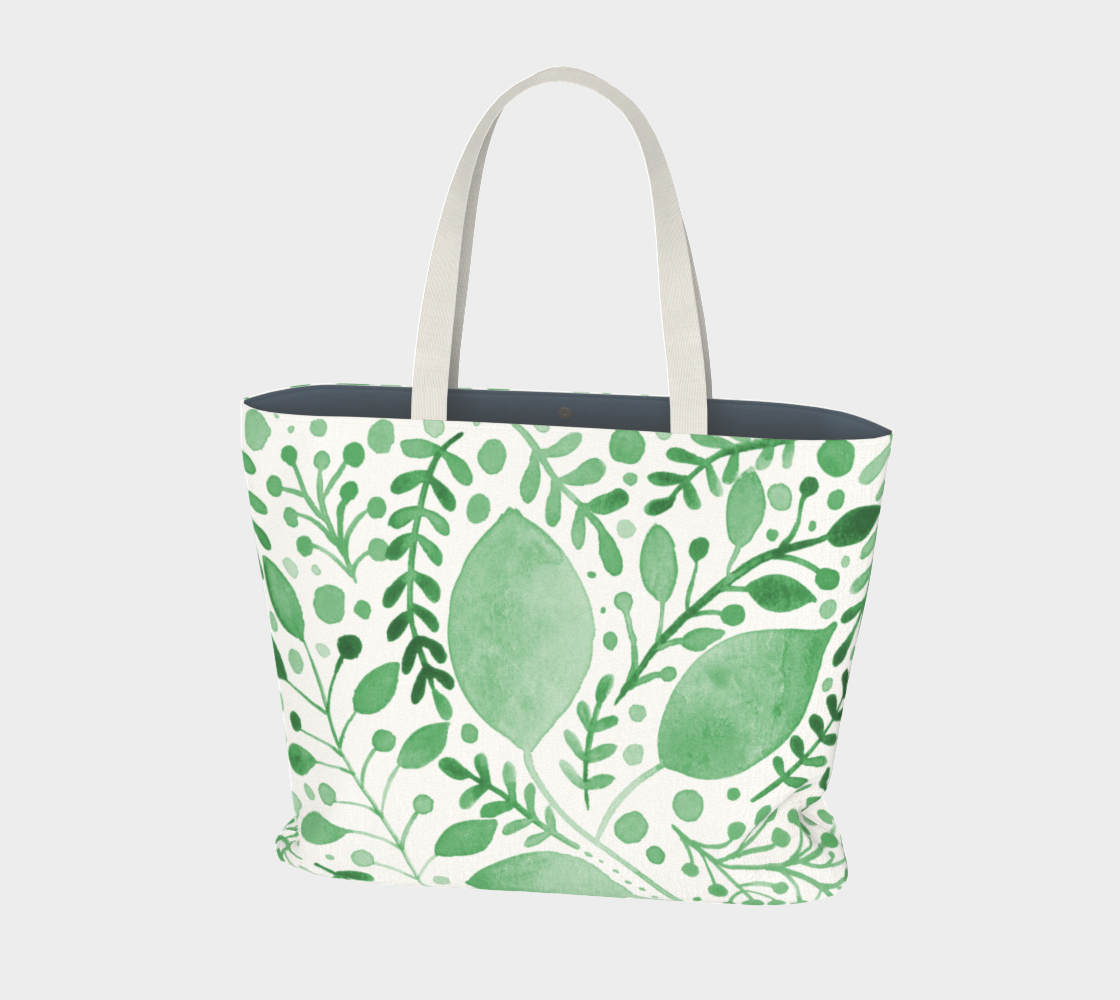 Branches and leaves - green preview