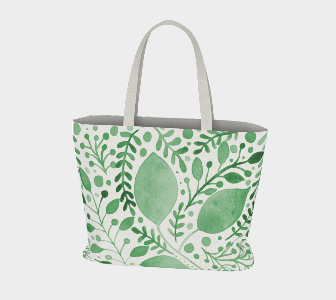 Branches and leaves - green preview #3