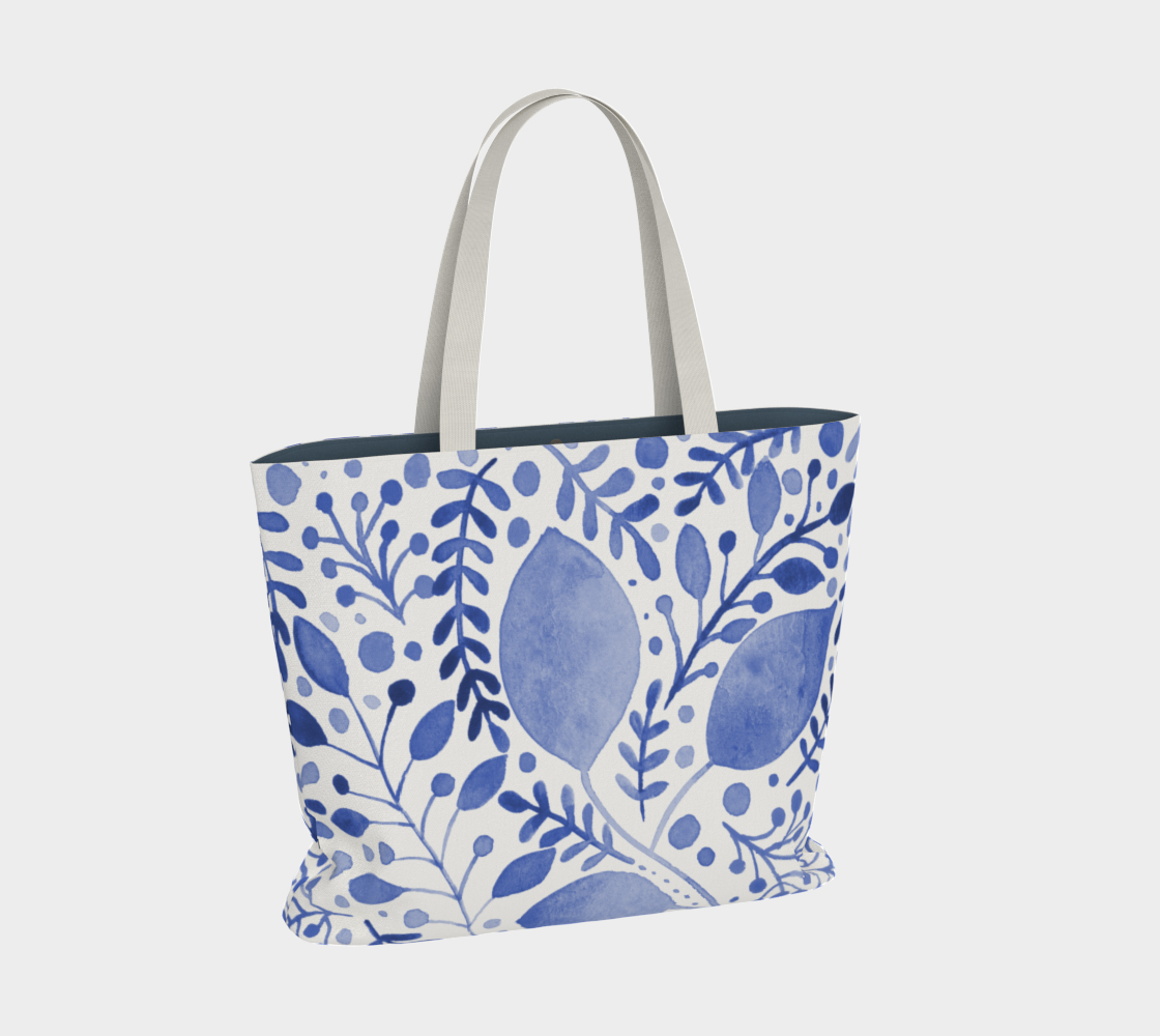 Branches and leaves - blue preview #2