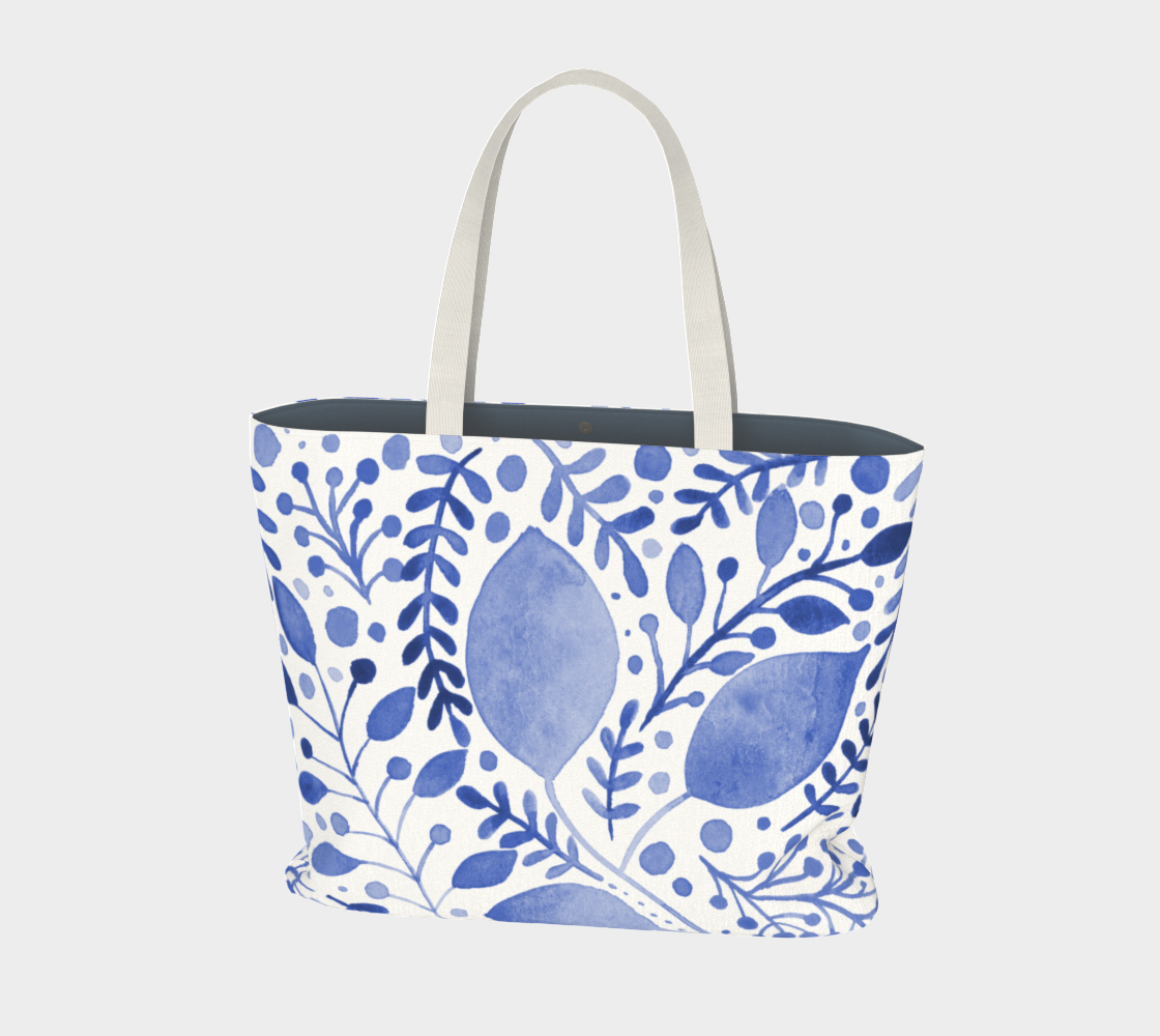 Branches and leaves - blue preview