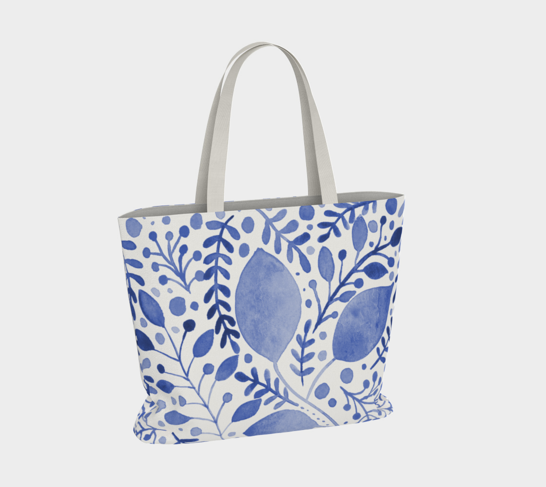 Branches and leaves - blue preview #4