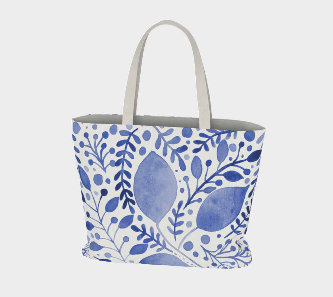 Branches and leaves - blue preview #3