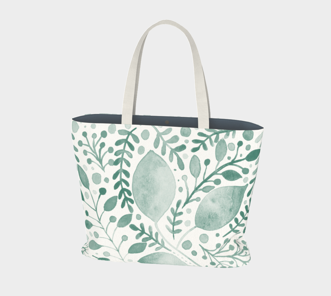 Branches and leaves - teal preview