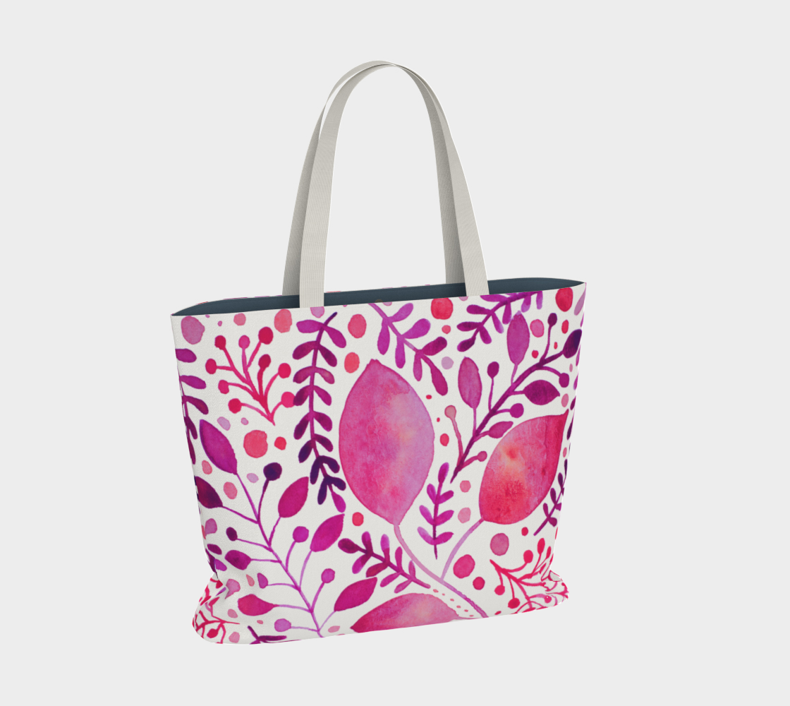 Branches and leaves - magenta preview #2