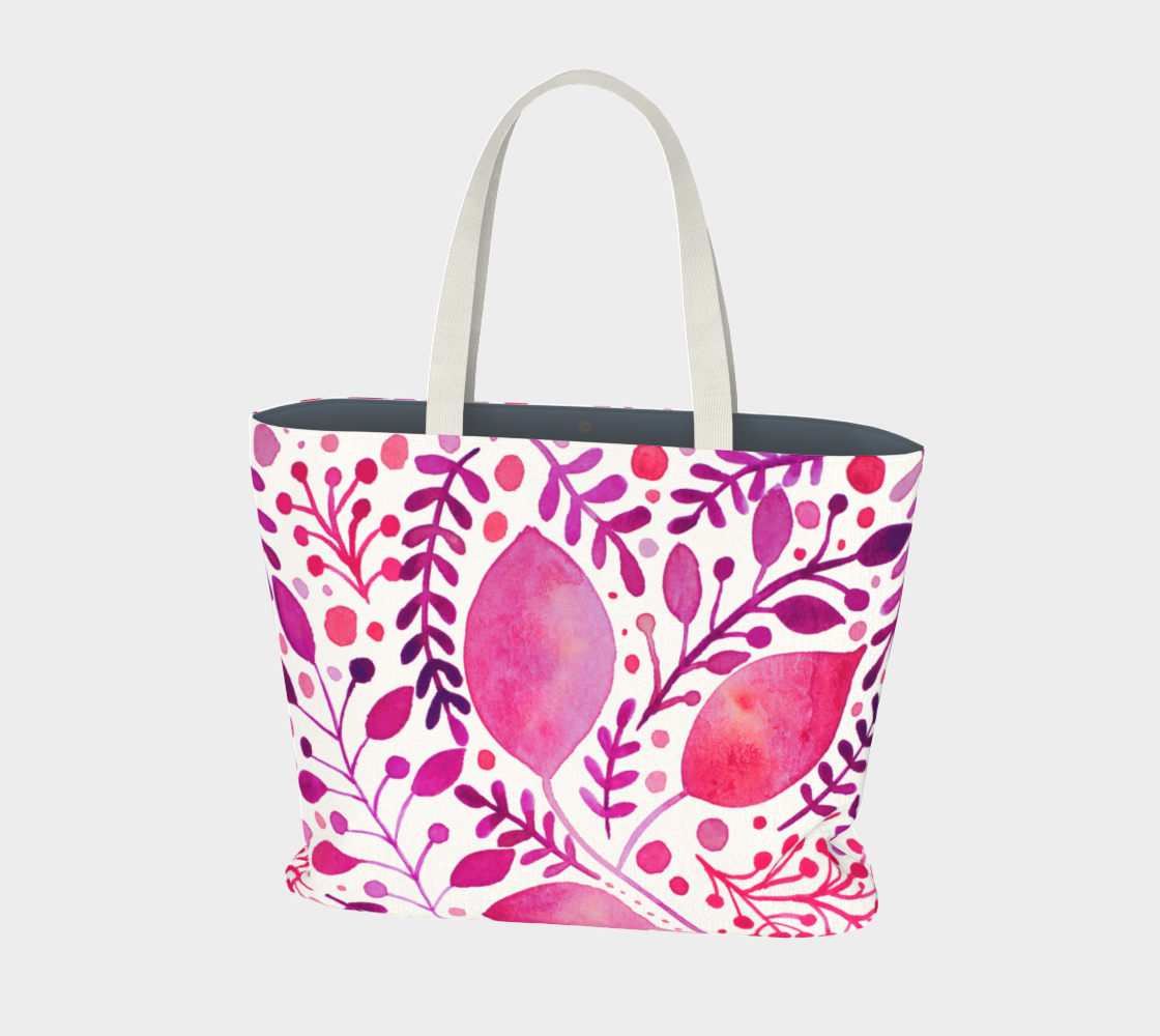 Branches and leaves - magenta preview