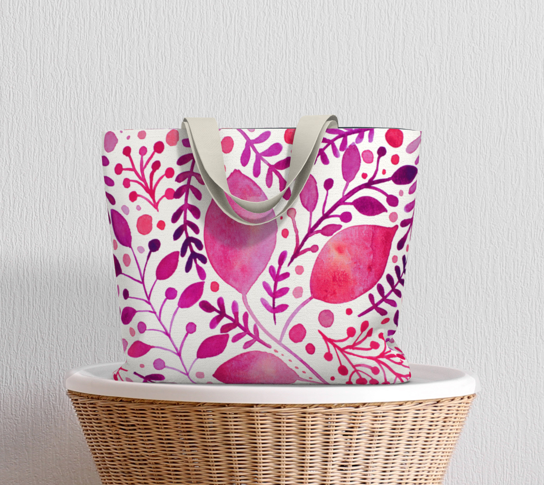 Branches and leaves - magenta preview #5