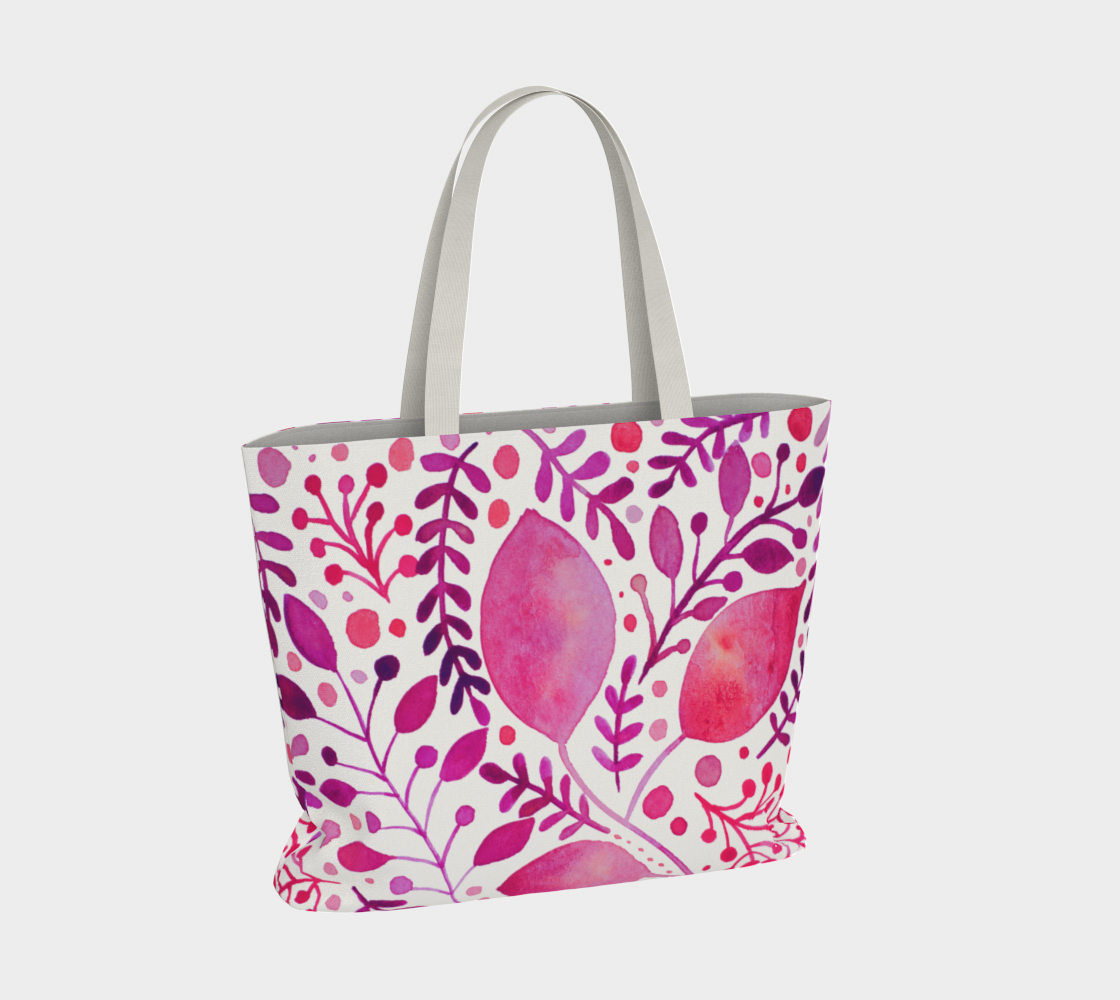 Branches and leaves - magenta preview #4
