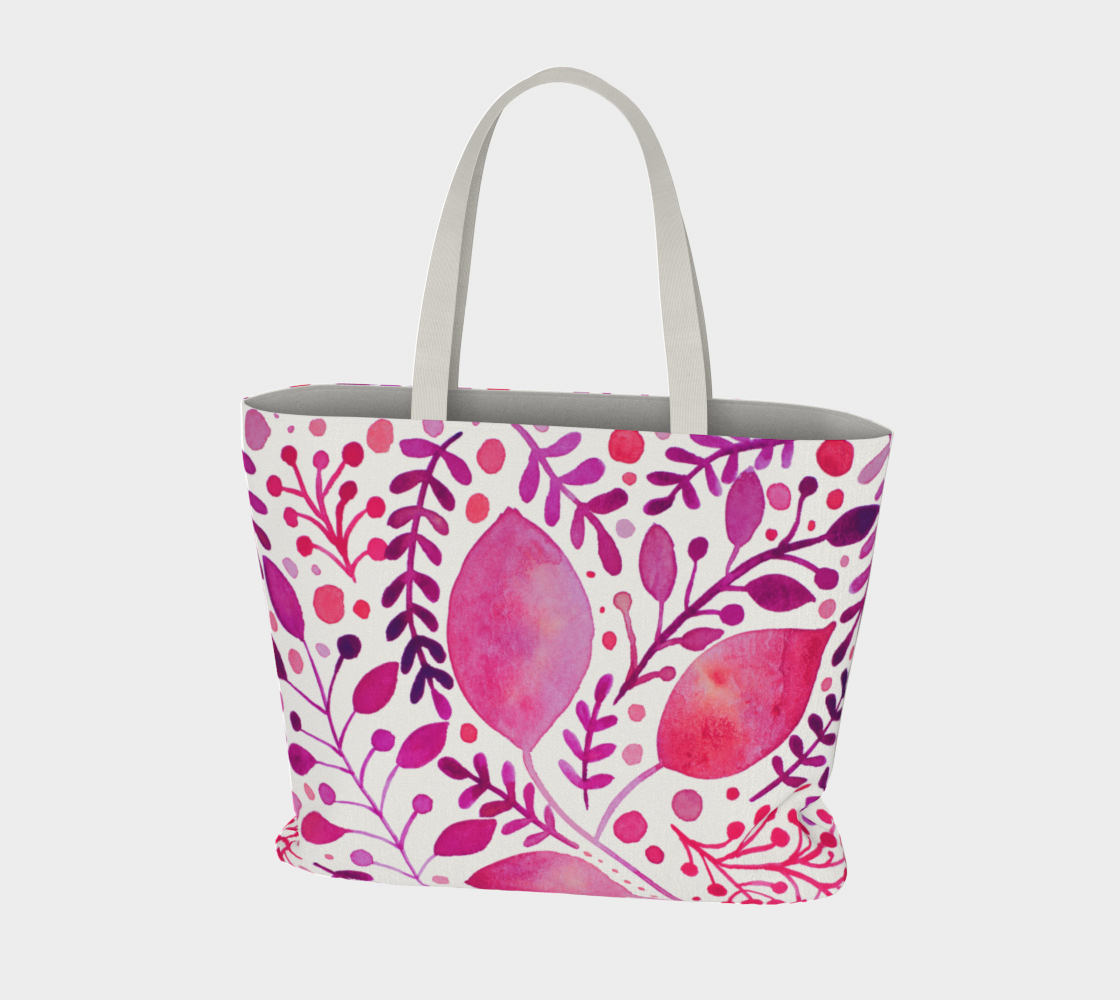 Branches and leaves - magenta preview #3