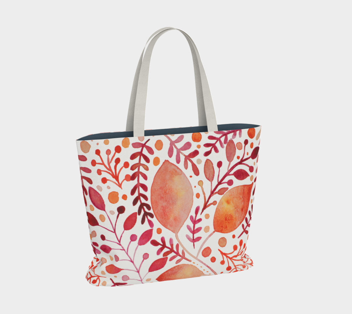 Branches and leaves - orange preview #2