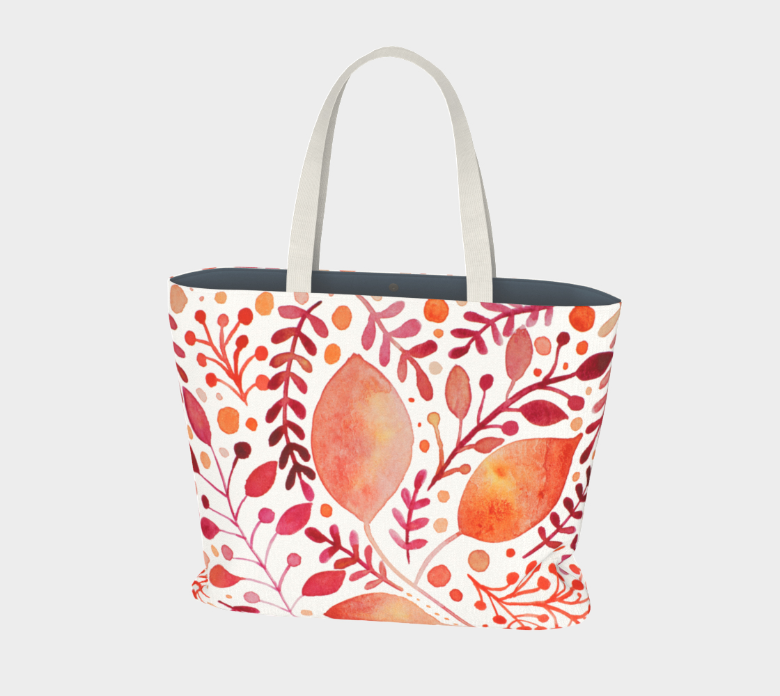 Branches and leaves - orange preview