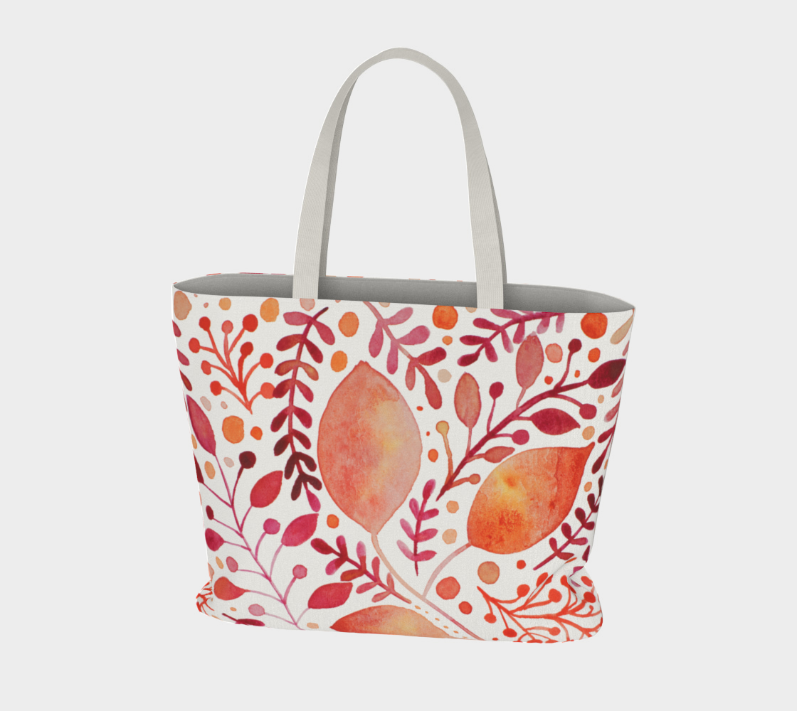 Branches and leaves - orange preview #3