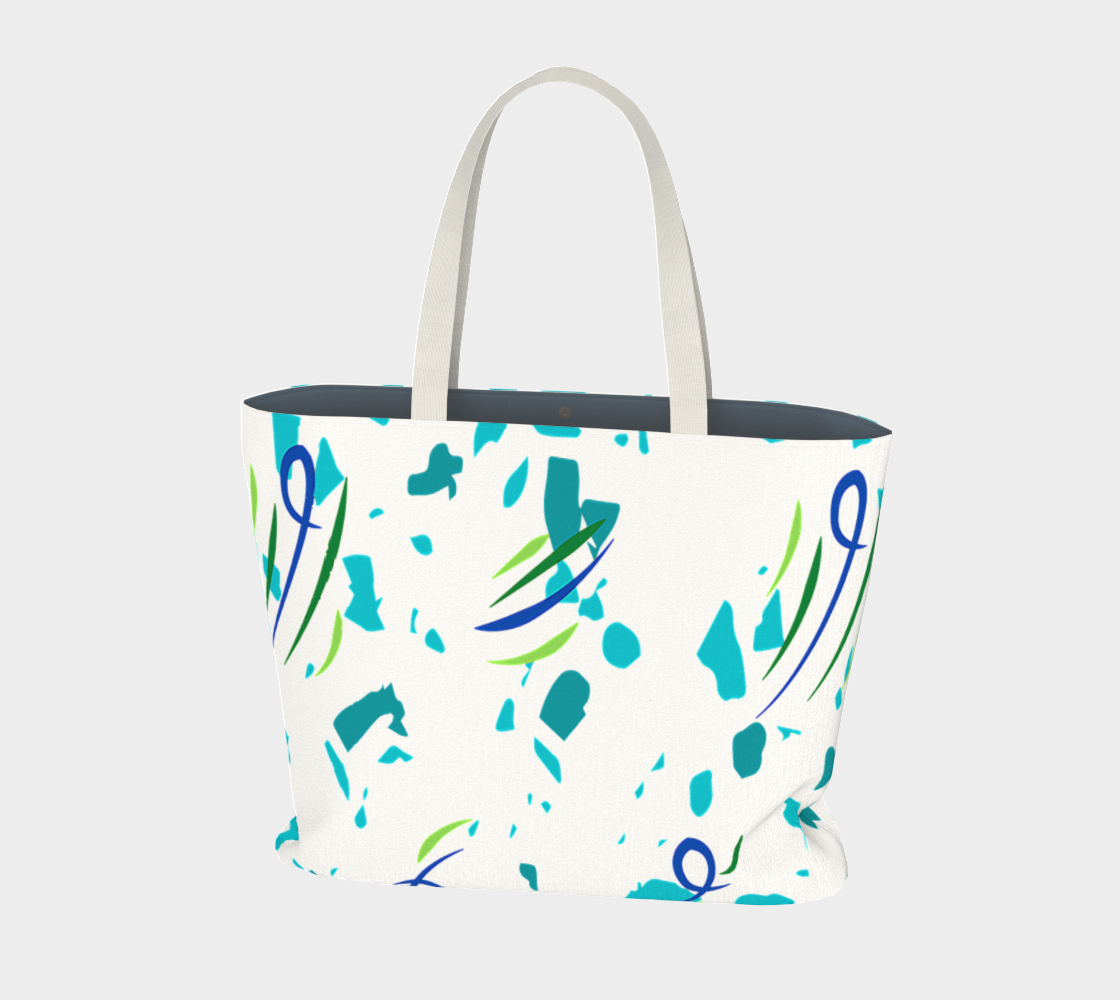 Abstract blues,  Psychedelic  Abstracto, market tote preview