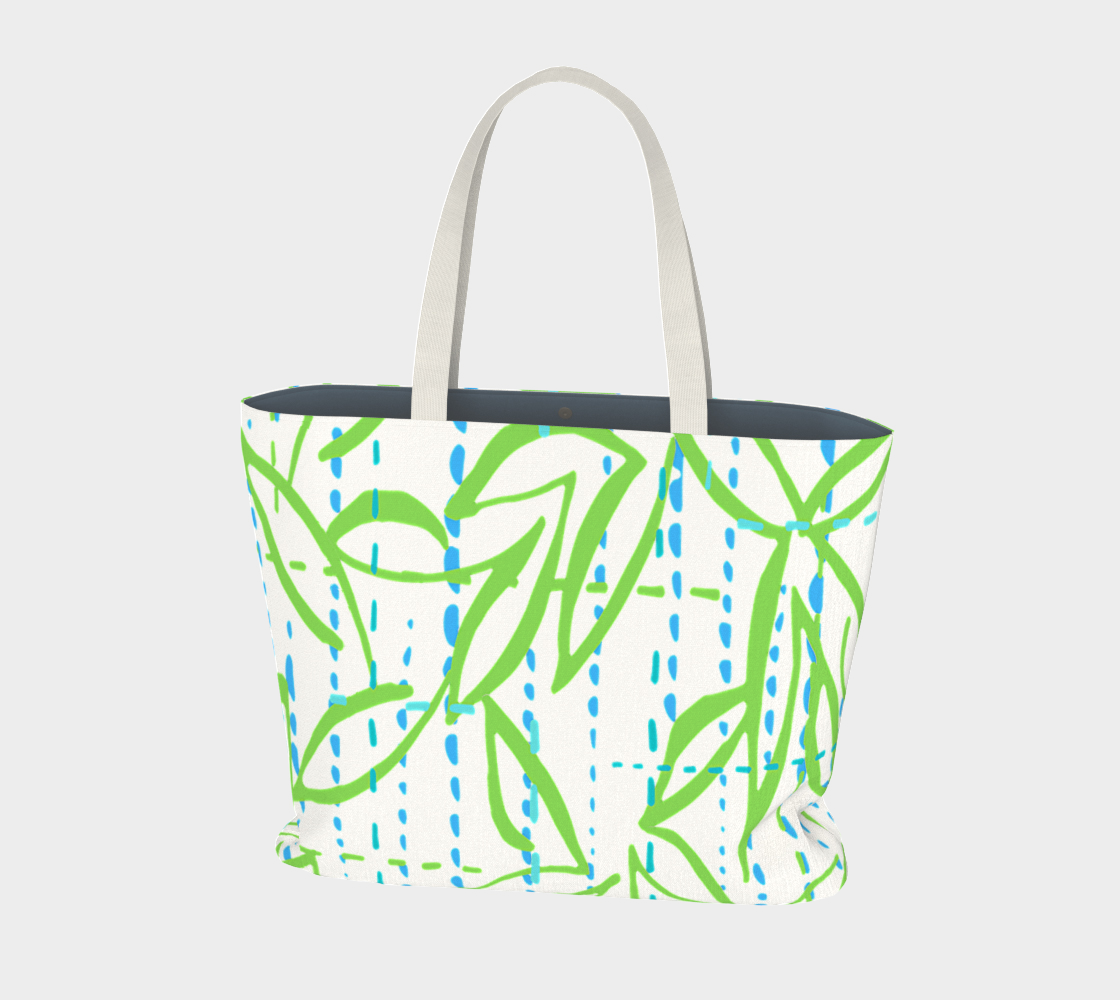Abstract Leaves Design, market tote. preview