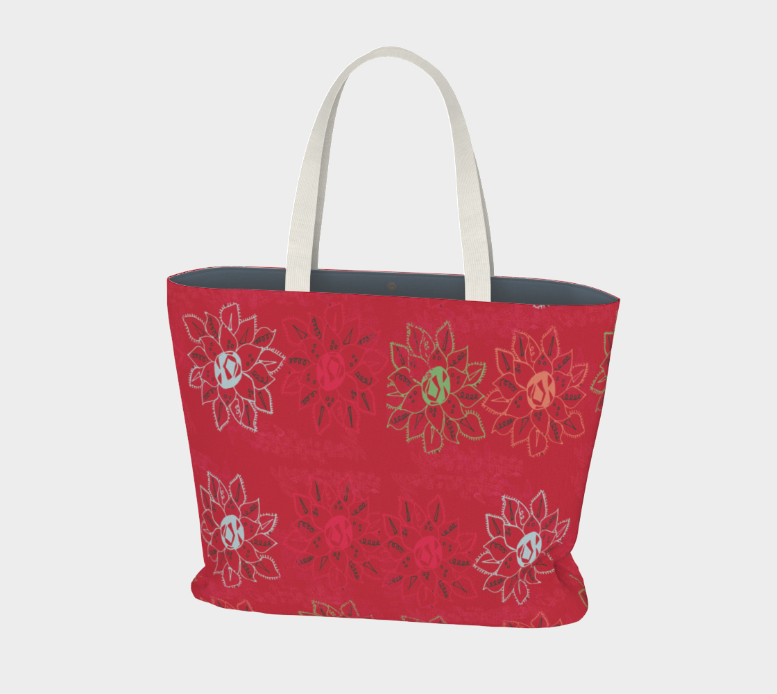 Suddenly Blooming Large Tote Bag preview