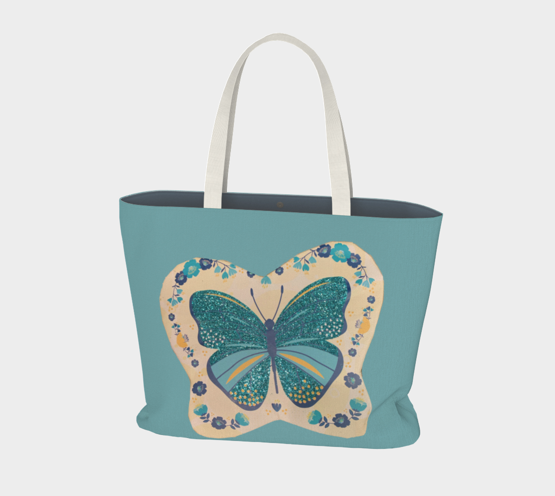 Large Tote Bag Butterfly Love Collection preview